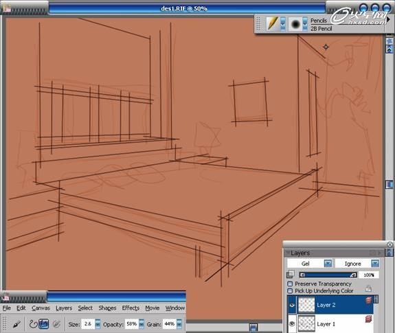 数位板手绘《室内渲染图》教程