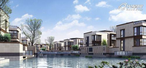 水乡美爆了!现代中式别墅区地块规划设计