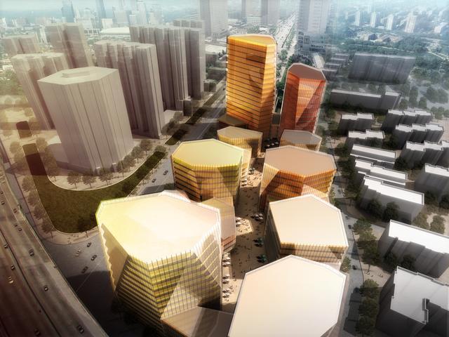 现代城市案例:青岛南京路多功能混合项目 - 火星建筑
