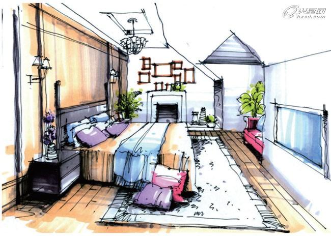 建筑设计教程:室内设计手绘快速表现流程