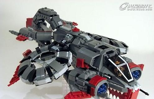 乐高版星际争霸 玩家制作人族坦克可变形