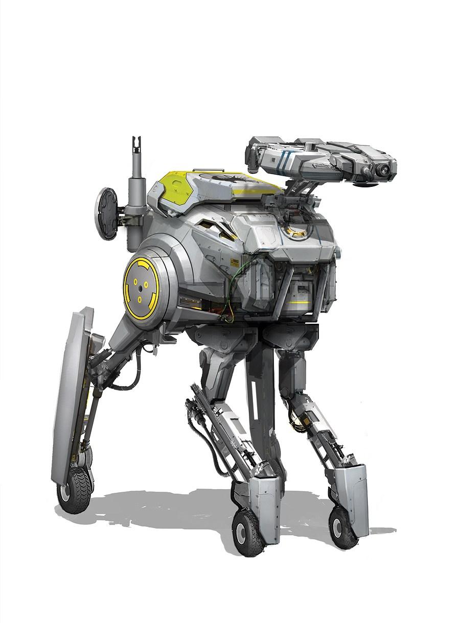 未来机甲千奇百怪 大师原画领略科幻世界