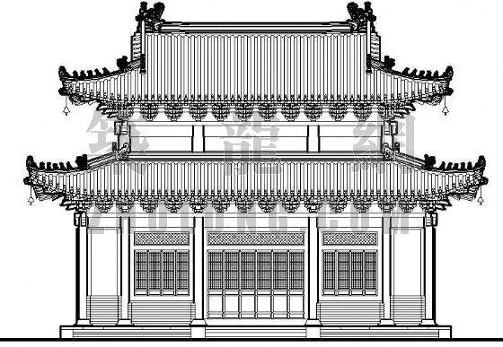 古建筑花纹矢量图