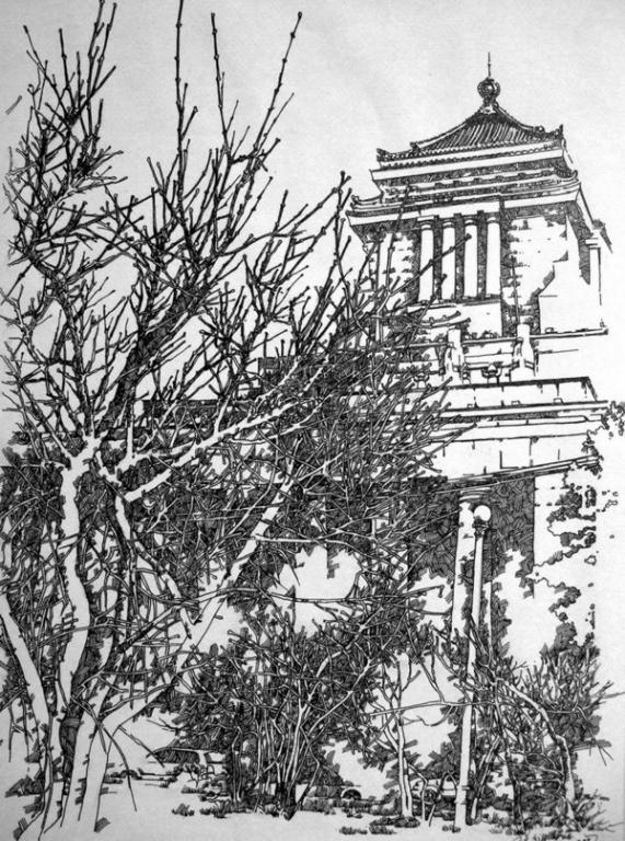中国手绘建筑画大赛获奖作品