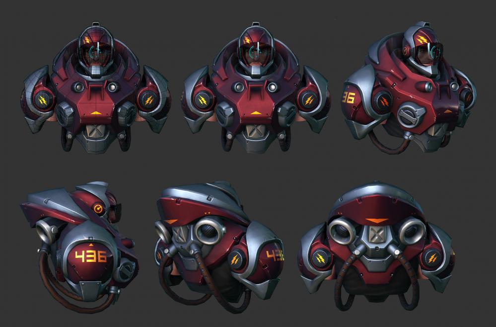 机械盔甲半身模型