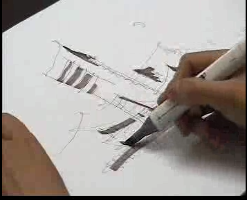 马克笔视频教程09 | 火星网-中国数字艺术第一门户