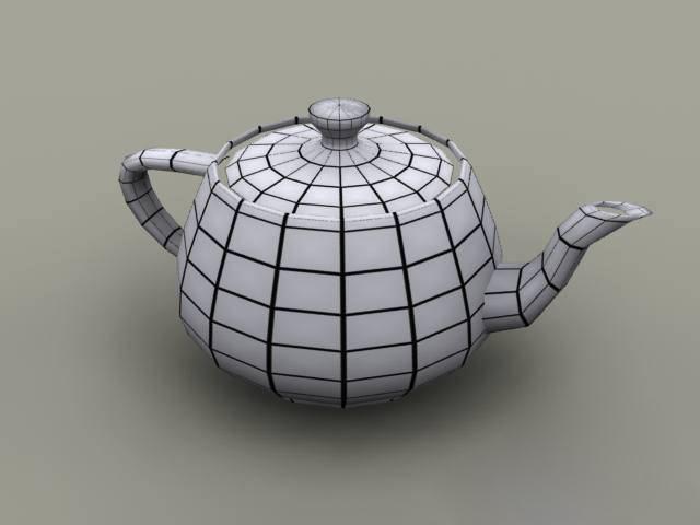 3ds_Max制作茶壶线框效果