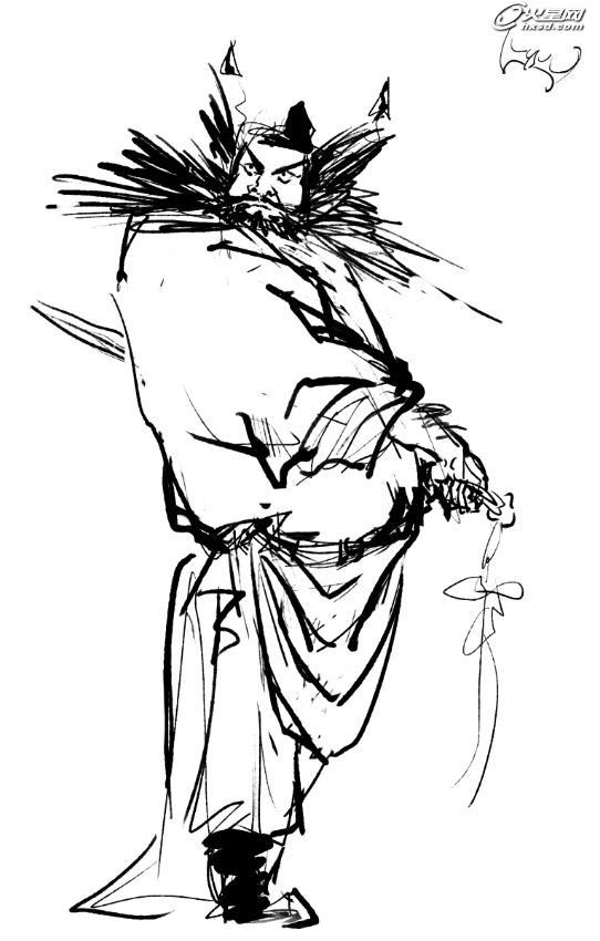 手绘王者荣耀钟馗图片