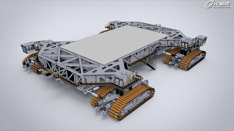 工业设计教程:犀牛建模教程:爬行者运输车模型制作