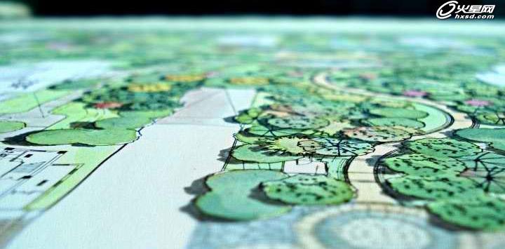 建筑设计教程:a0手绘彩色平面图绘制过程