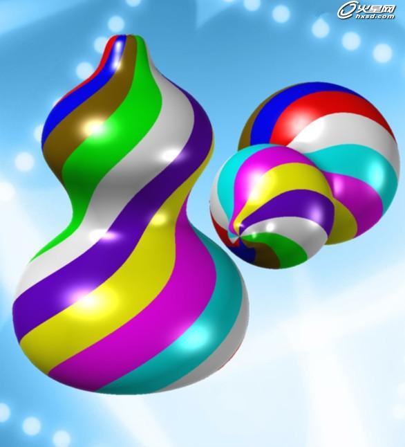 建筑设计教程:如何画一个漂亮的七彩葫芦 | 经验频道