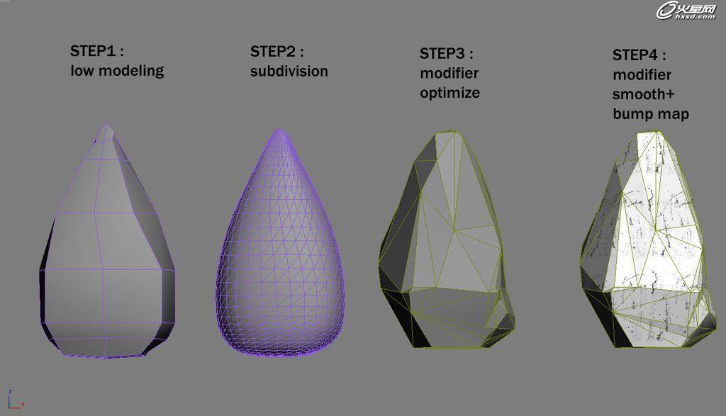 用3ds max vray创建冰钻石材质