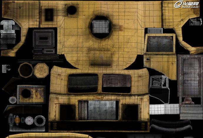 房车内部三维图