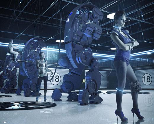 充满科技感的机械元素!酷炫3d机器人设计