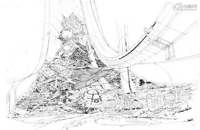 大师手笔《极乐空间》概念图