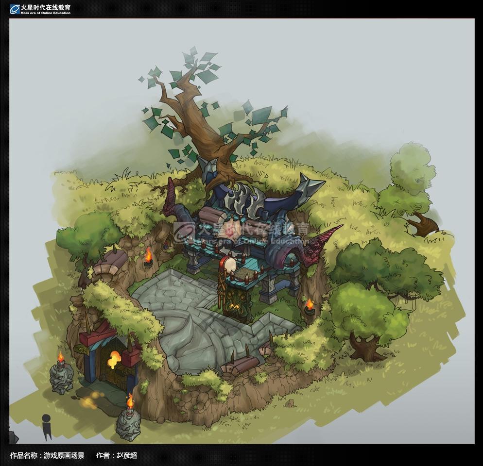韩国游戏场景原画设计图
